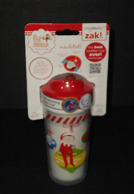 Christmas Sippy Cups (ZAK THE ELF ON THE SHELF Toddler Christmas Sippy Cup NEW in)