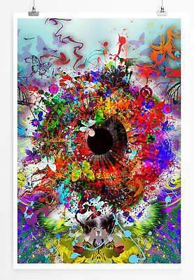 Digitale Auge (Digitale Grafik – Ornamentales Auge 60x90cm Poster)