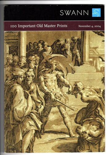 SWANN Auction Catalog  ~100 IMPORTANT OLD MASTER PRINTS ~2004