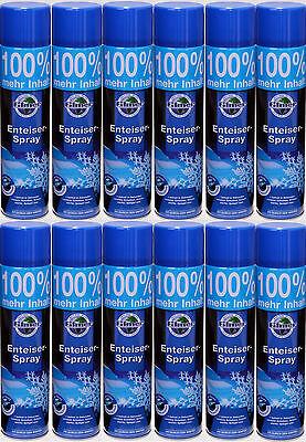 # 12x 600ml Enteiser Eisfrei Scheibenfrostschutz Scheibenenteiser Enteiserspray#