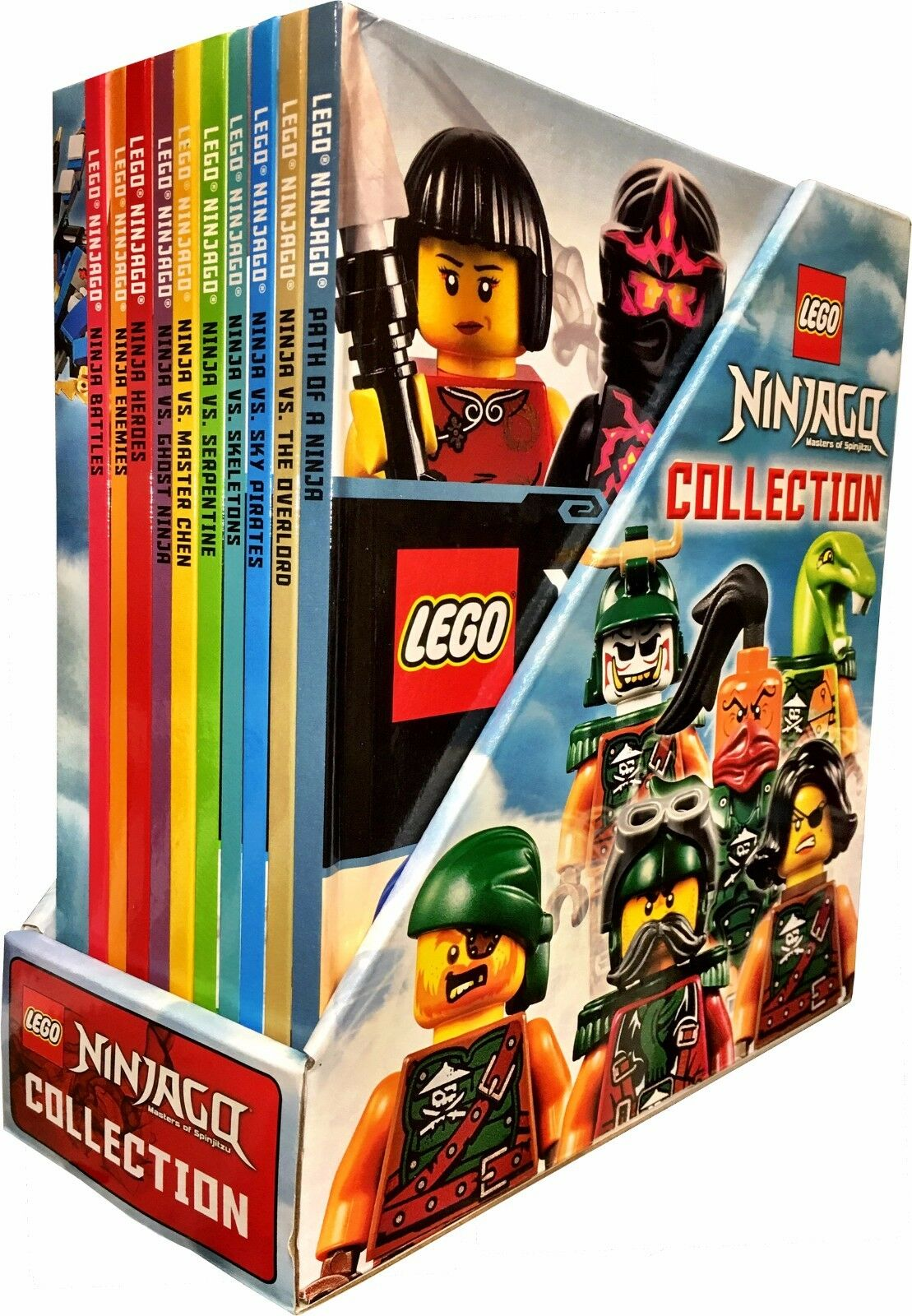 Lego ninjago collection 10 books box set inc minifigure toy ninja vs ghost ninja ebay - Ninjago vs ninjago ...