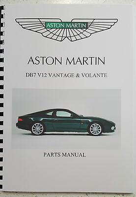 ASTON MARTIN DB7 V12 VANTAGE PARTS MANUAL 99-03 REPRINTED A4 COMB BOUND