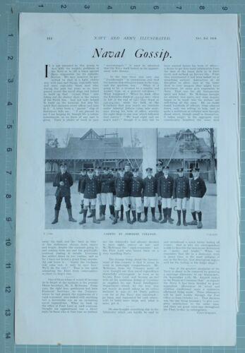 1914 WW1 PRINT CADETS AT OSBORNE COLLEGE