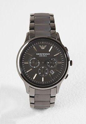 NEU Emporio Armani AR1451 Ceramica Herren Uhr Chronograph Keramik Farbe: Schwarz