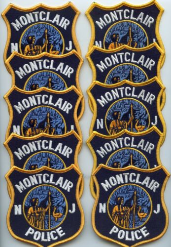 MONTCLAIR NEW JERSEY Patch Lot Trade Stock 10 Police Patches POLICE PATCH