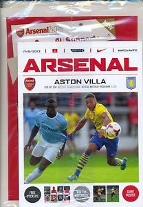ARSENAL v ASTON VILLA 2013/14 MINT PROGRAMME