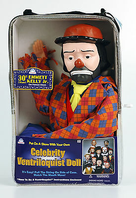 Emmett Kelly Jr Sad Clown Ventriloquist Dummy Doll Puppet