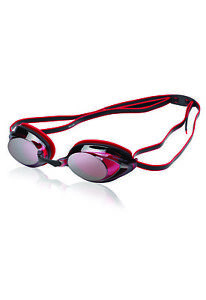Speedo Vanquisher 2.0 Plus Mirrored Swim-Swimming Racing Goggles-Maroon Anti-Fog