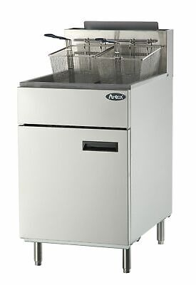 Atosa Atfs-75 Stainless Steel Deep Fat Fryer 75 Lb Gas Commercial Natural Gas Ng