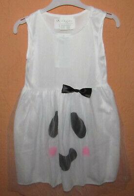 Mädchen Halloween Fasching Karneval Kostüm Kleid GEIST mit Tüllrock weiß NEU