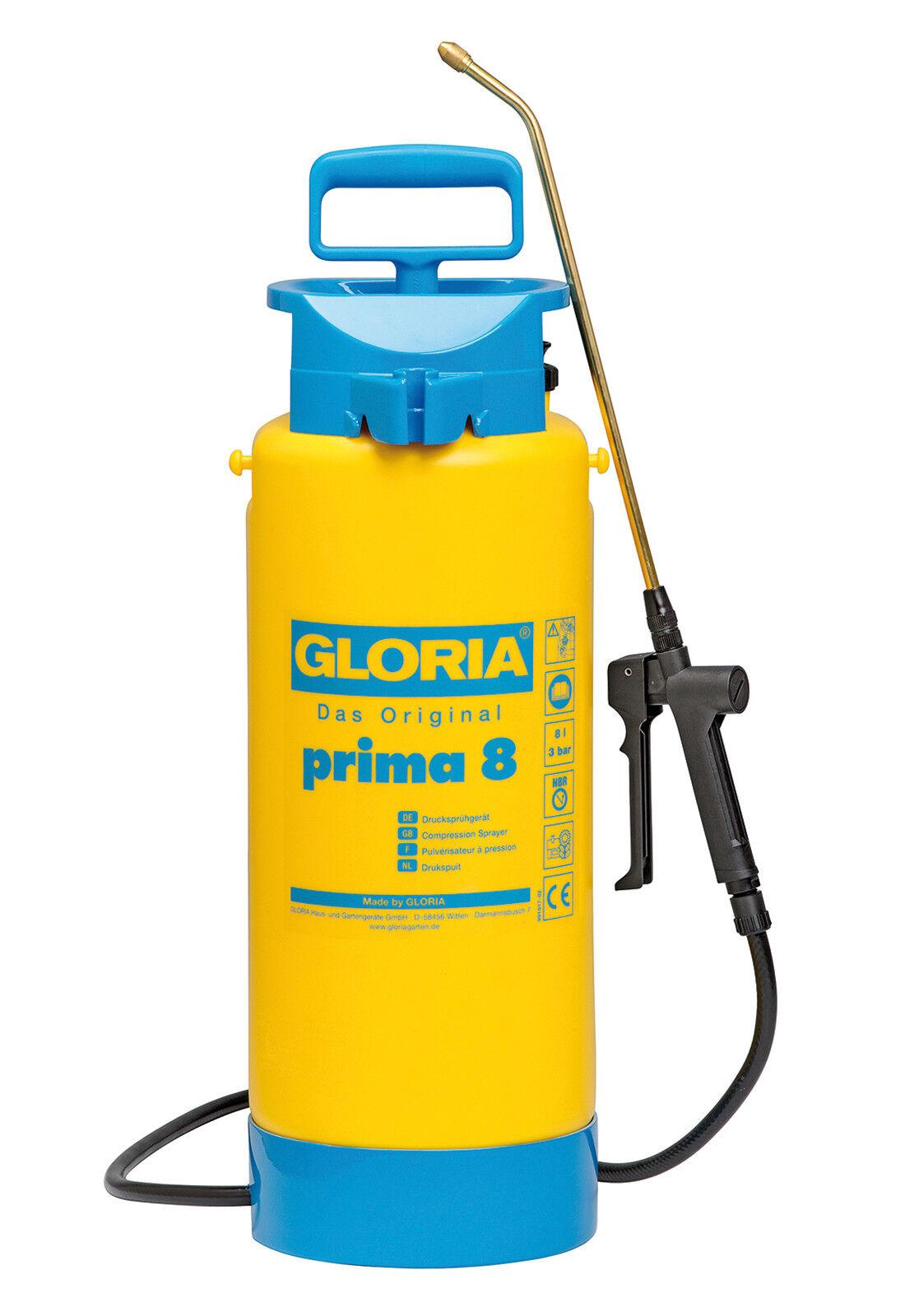 Gloria Pressure Sprayer First 8 Liter New 990000