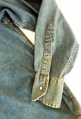 Chemise en jeans bleu homme seventy taille m