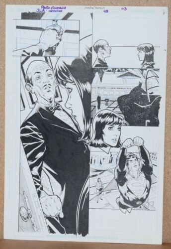 JUSTICE LEAGUE CLASSIFIED #49 page 3 ORIGINAL ART by Artist PAULO SIQUEIRA