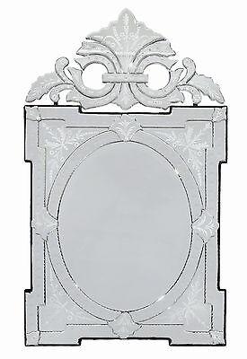 Venetian Rococo Floral Etched Mirror