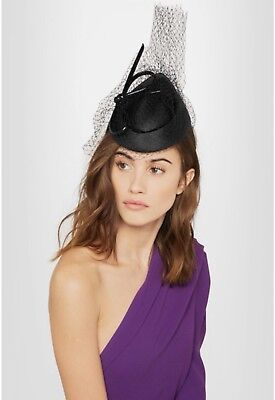 Philip Treacy Black Hat/facinator Veil Brand New RRP 1.5K Ascot/wedding/occasion