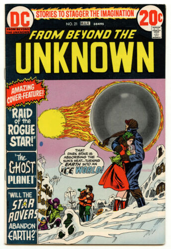 9.0 VF/NM From Beyond the Unknown #21 1973 DC Comics Bronze Sci-Fi Ghost Planet