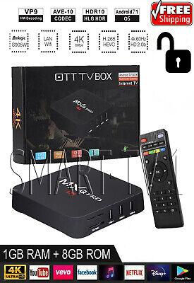 Newest 2019 MXQ PRO TV Box Media Streamer 4K Android 7.1 S905W 1G+8G Wifi / X96