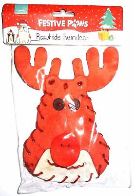 Rawhide Reindeer Christmas Treats For Dogs Food Xmas Stocking Filler