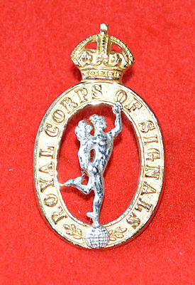 British Army. Royal Corps of Signals Officer's Collar Badge