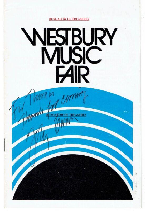 JOHNNY CARSON signed program: WESTBURY MUSIC FAIR 1973