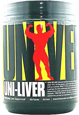 Universal Nutrition Uni Liver High Protein Desiccated Liver 250 Tabs Muscle Food