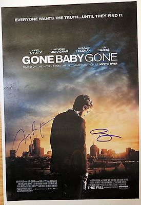 Ben Affleck, Casey Affleck & Amy Ryan signed Gone Baby 11x17 poster EXACT PROOF
