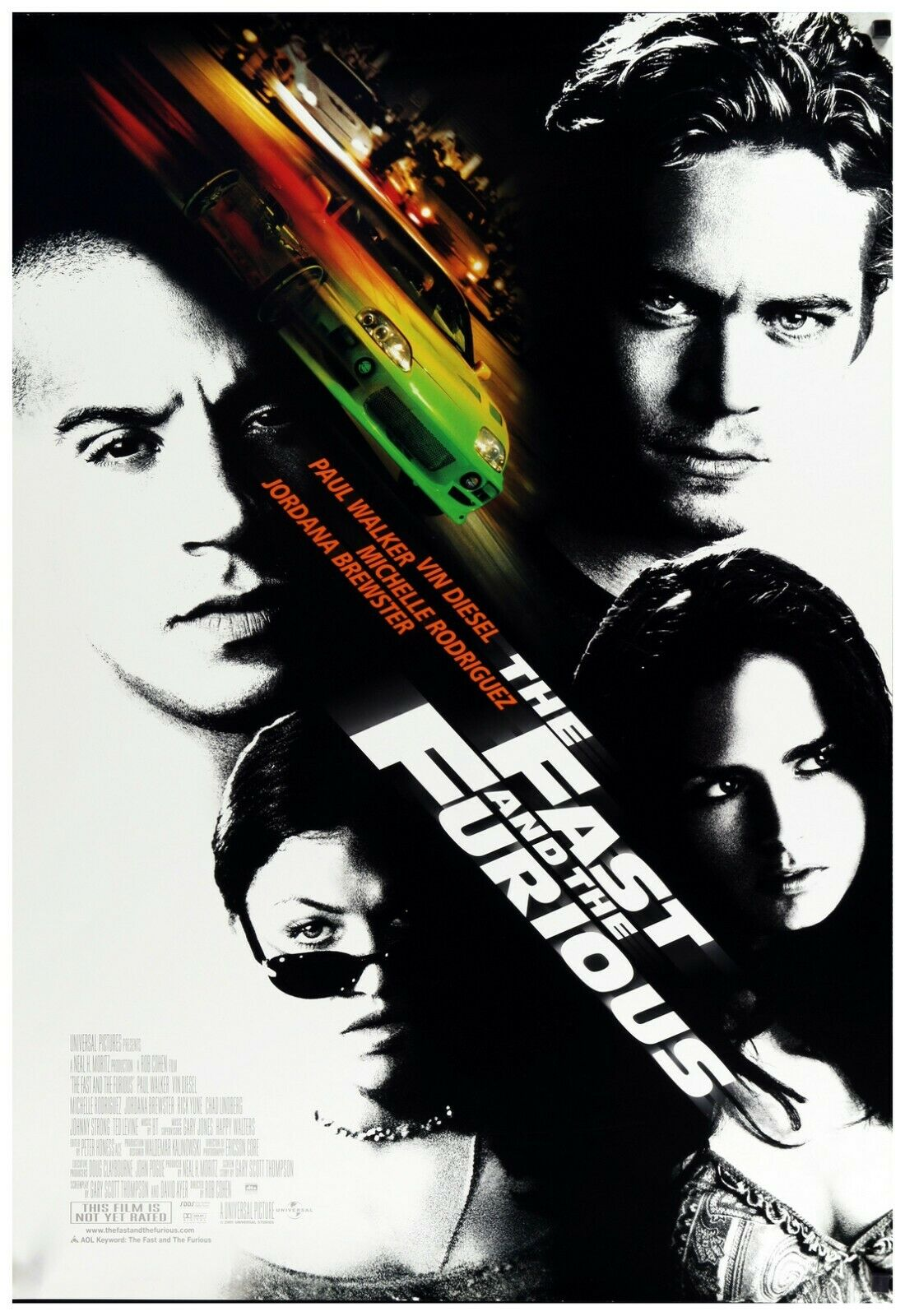 The Fast And The Furious Movie Poster Full Color Print - Wal