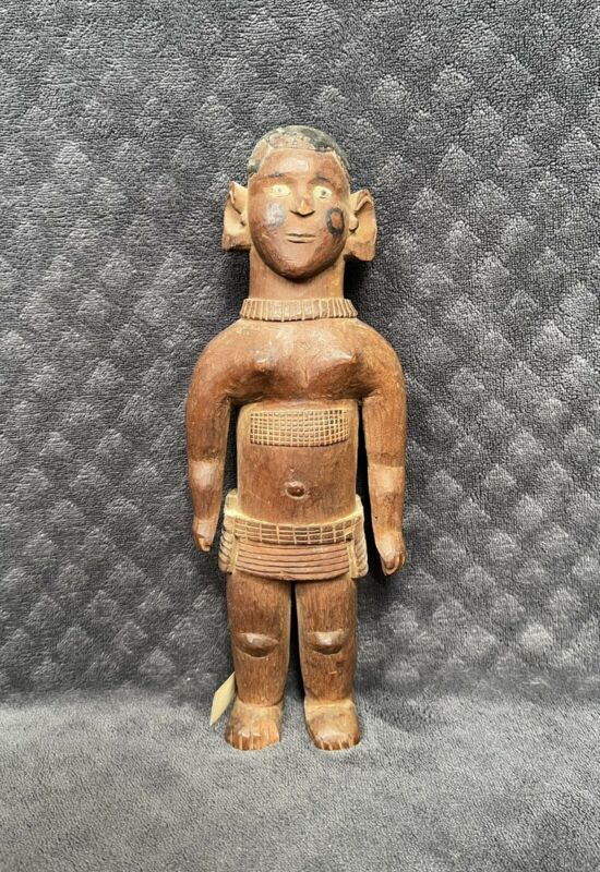 Antique African Tribal Dogon? Hand Carved Wooden Ancestor Effigy Man Statue