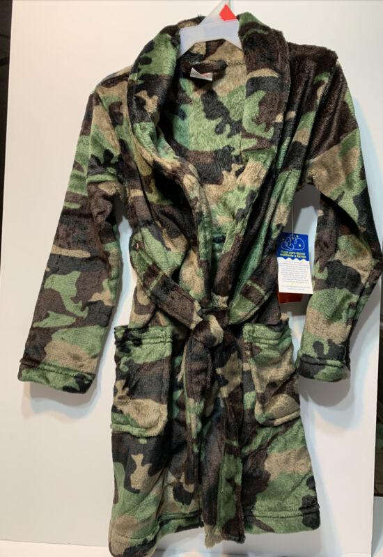 Wonder Nation Camouflage Boys kids Knit Robe Super Soft Sleep Wear bathrobe