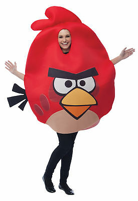 Rovio Angry Birds Red Bird Adult Costume Mascot Game Theme Party Cool Headturner - Cool Costume Themes