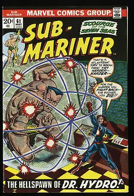 Sub-Mariner #61 NM- 9.2 Marvel Comics