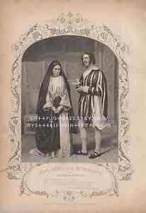 Measure-For-Measure-Actors-Lucio-Comedy-Shakespeare-1853-ANTIQUE-VINTAGE-PRINT