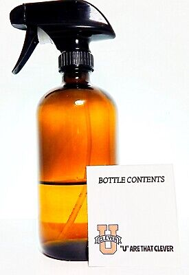 Empty Amber Glass Spray Bottle For Thieves Cleaning Large 16 oz Refillable (16 Oz Empty Spray Bottle)