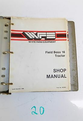 White Field Boss 16 Tractor Shop Service Repair Manual Wfe 432 891 1286