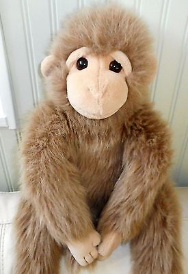 "TY CLASSIC MONKEY Plush Stuffed Beanie Baby JOSH Tan Brown 1993 XL 19"""