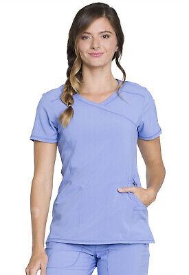 Ciel Blue Cherokee Scrubs InfinityMock Wrap Top 2625A CIPS Antimicrobial ()