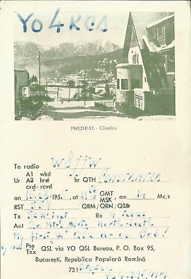 OLD VINTAGE YO4KCA BUCHAREST ROMANIA AMATEUR RADIO QSL CARD
