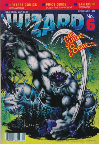 1992 Wizard Comic Price Guide #6 with Green Hulk Cover / poster & Wizard insert