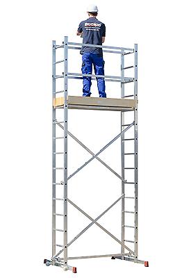 Strukturo Rollgerüst Fahrgerüst Arbeitshöhe 5 m Montagegerüst Leichter Aufbau
