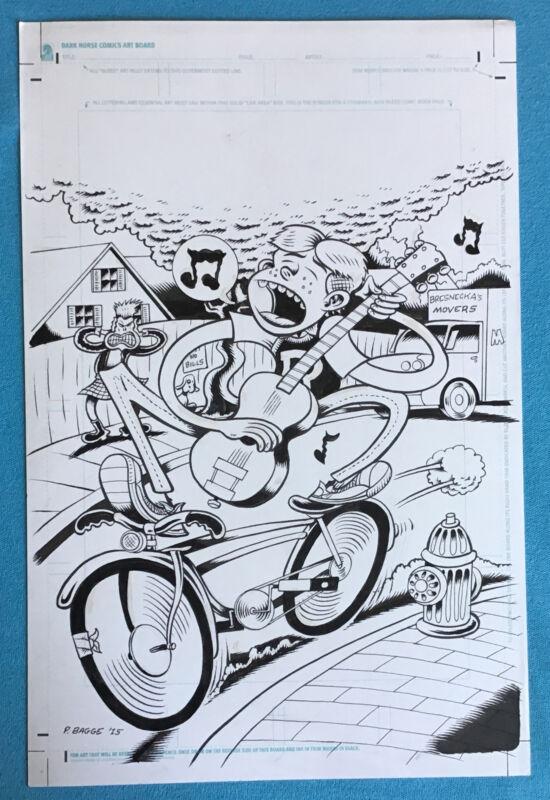 Peter Bagge ARCHIE #1 (2015) Newbury Comics Variant Cover Original Art HATE
