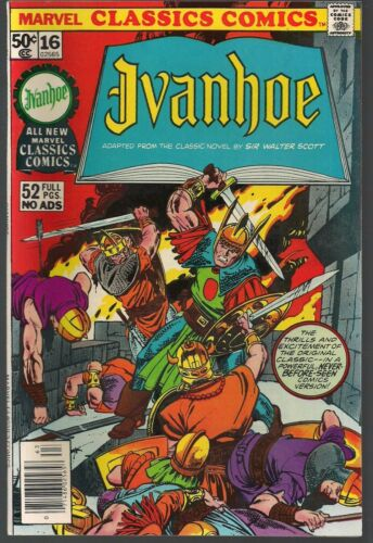 MARVEL 1976 CLASSICS #16 IVANHOE SIR WALTER SCOTT ADVENTURE ADAPTATION  52pgs VF