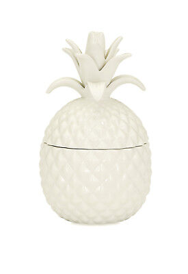 Bala Lidded Pineapple Shaped Ceramic Container, Kitchen Storage Canister 7.75