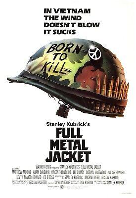 Full Metal Jacket Movie Poster 24x36 Inch Wall Art Portrait Print  24 Metal Wall Art