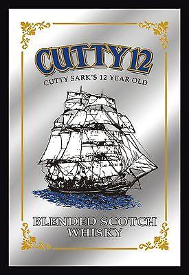 Barspiegel Cutty Sark, 20 x 30 cm Retro, Nostalgie, Werbung