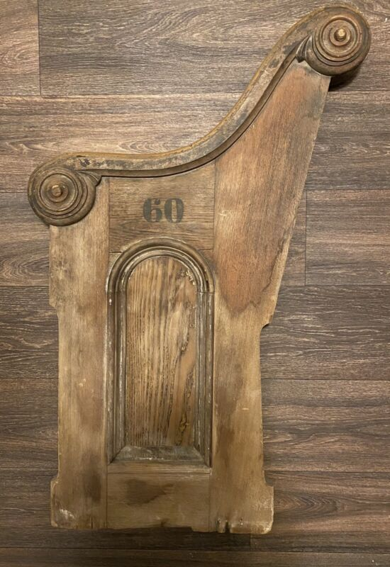 Furniture Architectural Salvage Church Pew Bench Side- 19th Century SC