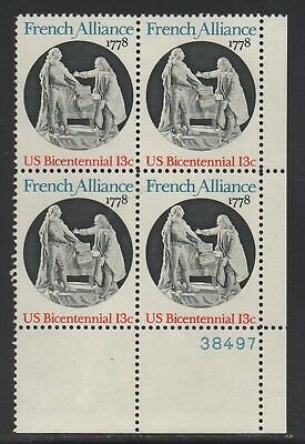 Allys Stamps Us Plate Block Scott  1753 13C French Alliance  5  Mnh  Lr38497