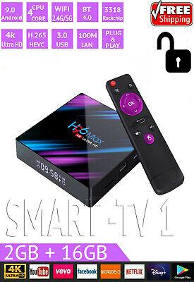 Smart TV BOX H96 MAX RK3318 4K Android 9.0 Dual WIFI 2GB+16GB HD 4K Media Player