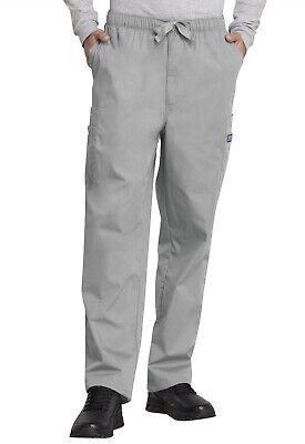 - Grey Cherokee Scrubs Workwear Mens Cargo Drawstring Pants 4000 GRYW