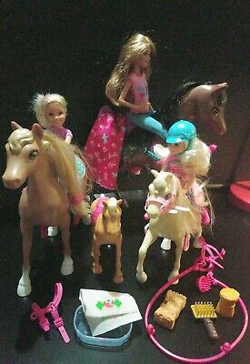 Lot of Barbie Dolls, Chelsea, Horses, Pony, Accessories and more