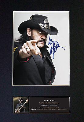 LEMMY Motorhead Signed Mounted Autograph Photo Print (A4) No480